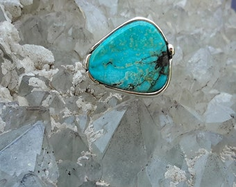 No. 23  Bisbee Turquoise Ring  Size 8