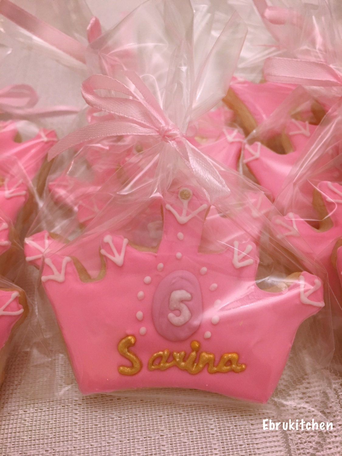 Princess Crown Cookies 12 Fresh Baked Cookies with Gold