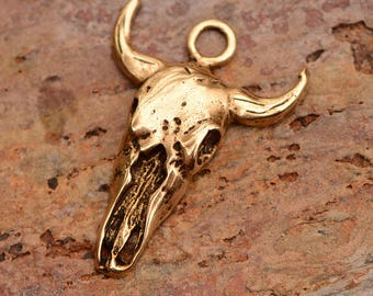 Steer Skull in Gold Bronze, CH-38, B/1