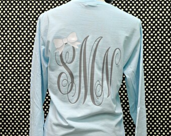 Custom Long Sleeve Preppy Monogrammed Shirt
