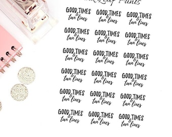 CLEAR | Good Times & Tan Lines  | Lettering Planner Stickers | Mini Sheet