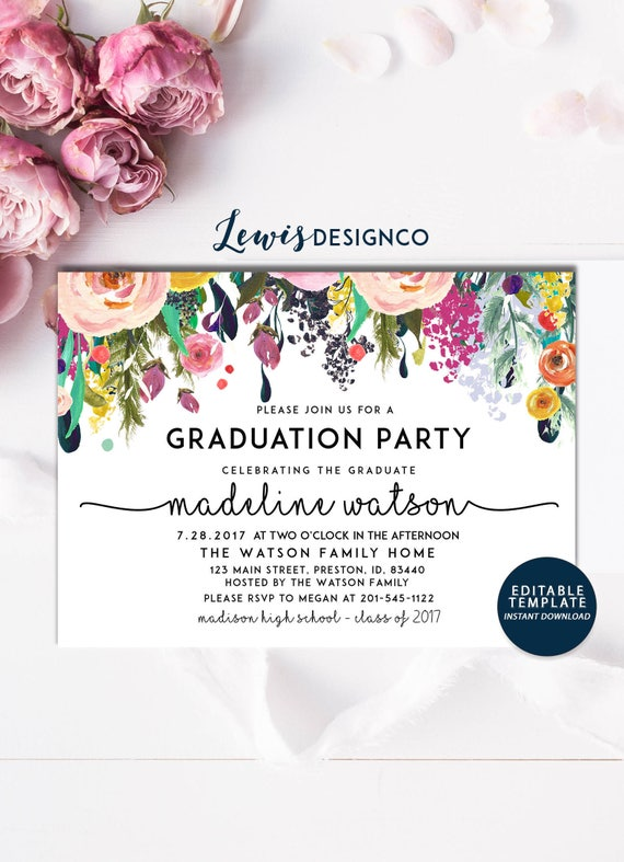 graduation party invitation high school graduation invite