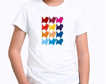 Colorful Cairn Terrier Children T-Shirt