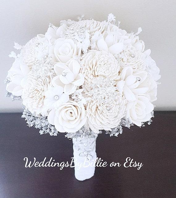 White sola wedding bouquet white silver bouquet wedding mightylinksfo