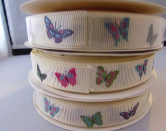 Ivory Butterfly Ribbon