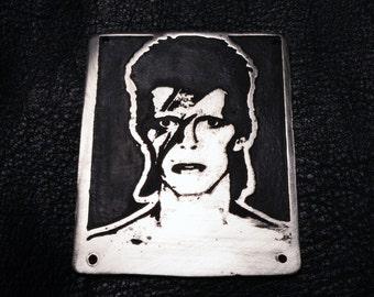 David Bowie metal badge