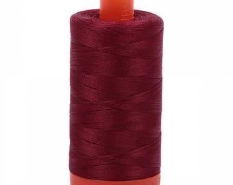 Thread, Aurifil, #2460,Dark Carmine Red~Cotton Thread, Quilt,Sewing,50 Wt.Mako,1420 Yds, Fast Shipping TH240