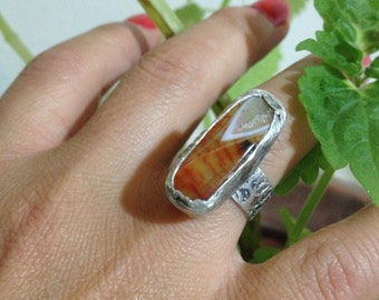 Gemstone Ring , Amber ring, Handmade Ring, Free Size Ring, Gift for Her