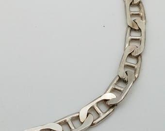 """Vintage Italian Made Sterling Silver Link Bracelet - 7"""""""