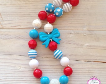 Dr. Suess Inspired Chunky Necklace - Bubblegum Necklace
