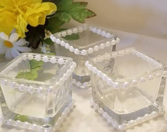 Pearled Votive Candle Holder