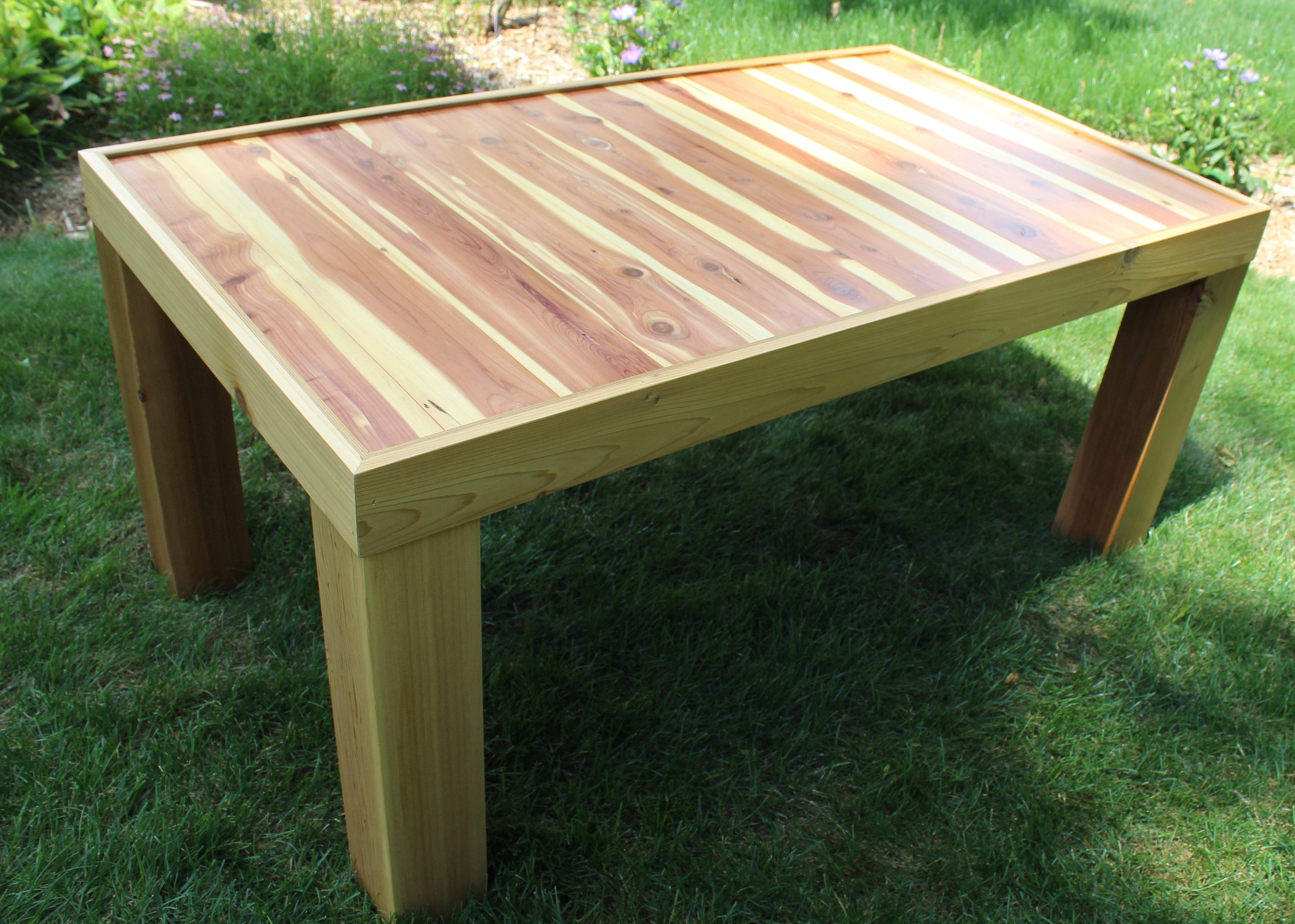 Outdoor Cedar Coffee Table Outdoor Patio Table Sundeck Deck