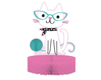 Cat Centerpiece - Cat Party - Meow Birthday - Kitten Birthday - Kitty Birthday - Cat Party Supplies - Cat Birthday - Kitty Baby Shower Decor