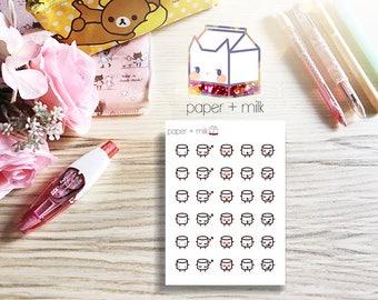 Etc pt. 1 Planner Stickers - Maru the Mini Marshmallow