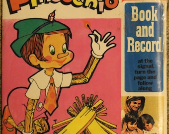 Pinocchio | Peter Pan Records (45 RPM, Book and Record, Factory Sealed)