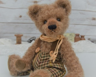 """Old Fashioned Teddy Bear """"Louis"""" - vintage style hand made mohair bear - WITH FREE SHIPPING!"""