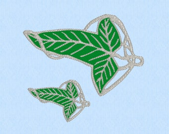Lord of the Rings (LOTR) Elf Leaf Brooch Machine Embroidery Design File - 2 sizes