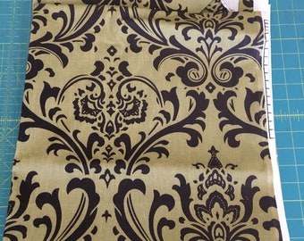 olive green and brown premier prints ozborne damask fabric by the yard