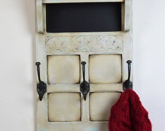 Handmade coat rack with shelf