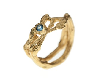 Twig Ring with Stone ~engagement ring