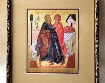 Markwin's Grandparents of our Lord, St. Joachim and St. Anne Framed Picture Print Two Turtle Doves