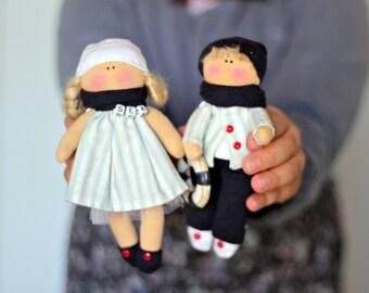 Handmade fabric dolls, custom made decorative dolls, rag doll