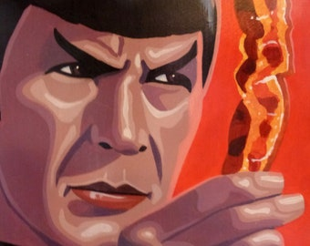 """spock and bacon 12""""x15"""""""