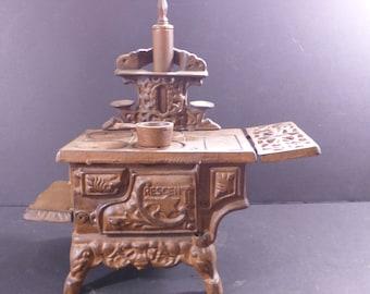 Vintage Large Crescent  Cast Iron toy stove