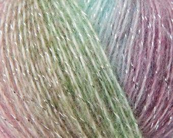 creative reflection print rico 4 color lurex yarn