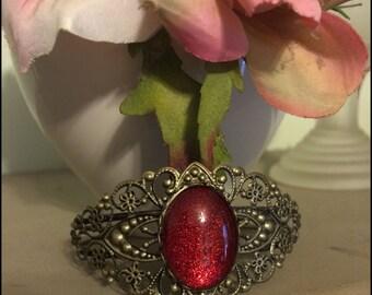 Antique Bronze Filigree Bracelet with Color Variations - Sparkle