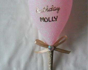 18th  Personalised Wine Glass