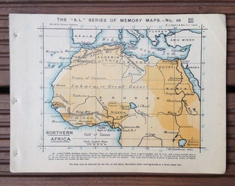Map of Northern Africa