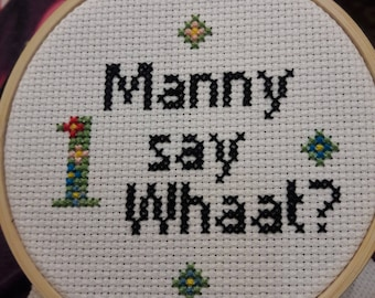 This is Us TV show, Funny cross stitch complete, This is us funny cross stitch, mother's day gift idea, The Manny, big three