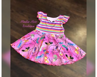 Size 7/8 Girls twirl tunic top, size 7/8 girls. Princess shoes