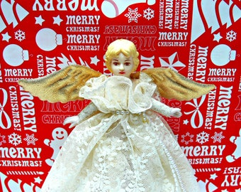 Angel Tree Topper, Vintage Christmas Decoration