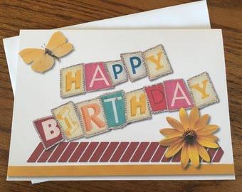 Item #103 Happy Birthday Greeting Card - Romans 15:13 Inside