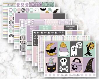Pastel Halloween Weekly Planner Sticker Kit