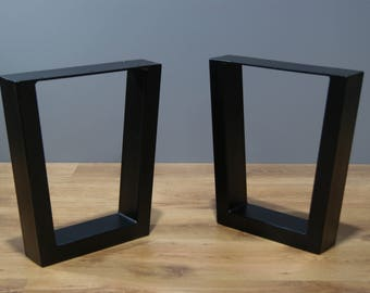 Trapezoid bench legs,  bench base (SET OF 2) - steel coffee table legs, coffee table base, powder coated