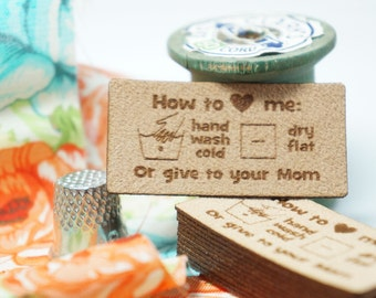 how to love me labels sew in care instructions