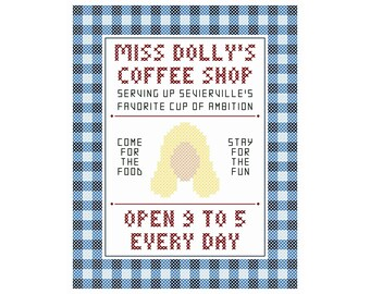 """Miss Dolly's Coffee Shop - Original Cross Stitch Chart 