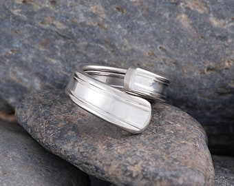 Silverware Handle Ring (Spoon Ring) Size 4 SR114