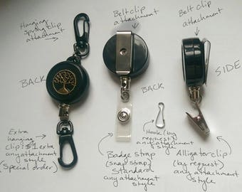 Extra hanging spring clip ADD-ON for badge reels