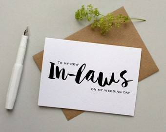In-laws wedding card - Wedding card for parents - Wedding card for in-laws - Bridal party cards - Wedding day cards - Family wedding cards