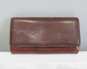 Cavalieri genuine leather wallet, chestnut leather wallet