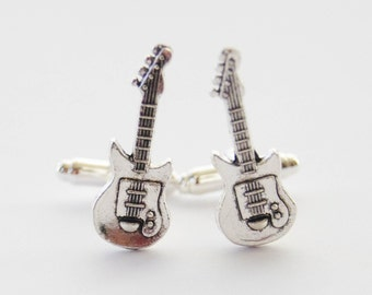 Guitar Cufflinks, Electric Guitar Cufflinks, Guitar Gifts, Guitarist Gifts, Electric Guitar, Music Cufflinks, Music Gift, Musician Cufflinks