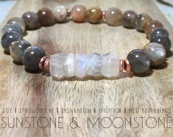 Sunstone & Moonstone bracelet.