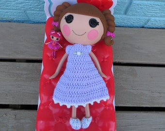 Crochet Pattern for Lalaloopsy Doll Clothes Nightgown and Slippers Pajamas PDF Instant Download