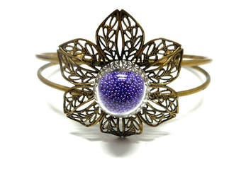 Bracelet, bronze, Pearlescent purple second choice