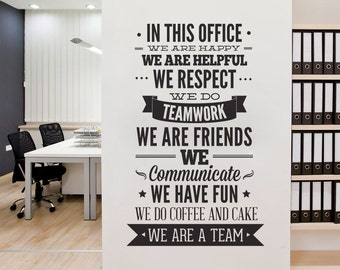 Office Decor Typography - In This Office Ultimate Typography Decal - Office Sticker  - Motivational Decals - SKU:ThisOfSt