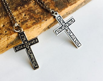 Vintage Cross Necklaces, Silver Plated Crosses, Catholic Necklace, Etsy, Etsy Jewelry, Etsy Vintage